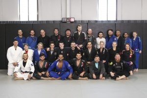Jiu-Jitsu students in class at Cromwell CT